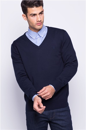 The Bostonians ανδρική πλεκτή μπλούζα με V λαιμόκοψη