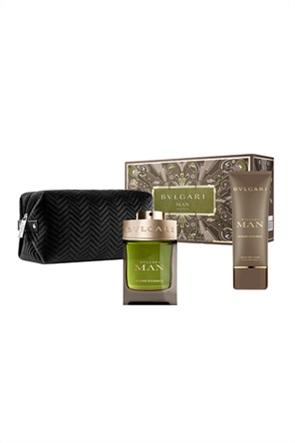 Bvlgari Man Wood Essence Pouch Set Xmas 2020 Eau De Parfum 100 ml & After Shave Balm 100 ml & Pouch