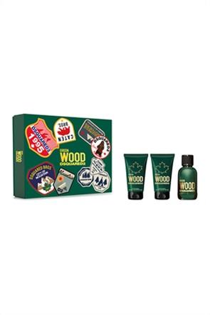 Dsquared2 Set Wood Pour Homme Green Eau de Toilette 50 ml + Bath & Shower Gel 50 ml + Body Lotion 50 ml Spring 2021