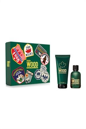 Dsquared2 Set Wood Pour Homme Green Eau de Toilette 100 ml + Bath & Shower Gel 150 ml Spring 2021