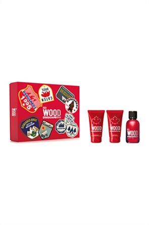 Dsquared2 Set Wood Pour Femme Red Eau de Toilette 50 ml + Bath & Shower Gel 50 ml + Body Lotion 50 ml Spring 2021