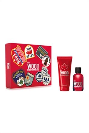 Dsquared2 Set Wood Pour Femme Red Eau de Toilette 100 ml + Bath & Shower Gel 150 ml Spring 2021