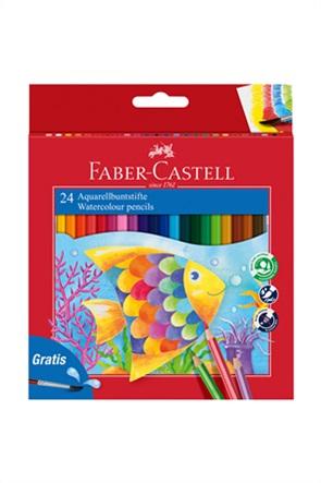 Faber-Castell  Ξυλομπογιές Ακουαρέλας σετ των 24 χρωμάτων