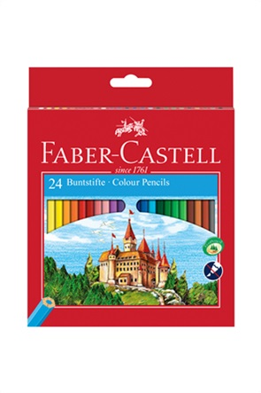 Faber-Castell Ξυλομπογιές Κάστρο σετ των 24 χρωμάτων