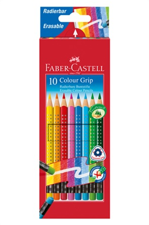 "Faber-Castell Ξυλομπογιές που σβήνουν ""Grip Erasable"" (10 τεμάχια)"