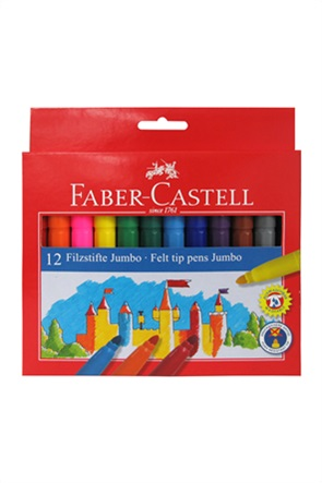 Faber-Castell Μαρκαδόροι Jumbo Σετ των 12