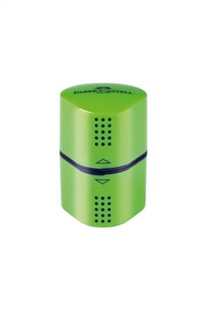 Faber-Castell Τριπλή Ξύστρα Grip Trio Πράσινη