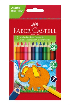 Faber-Castell Ξυλομπογιά Jumbo σετ των 12 χρωμάτων