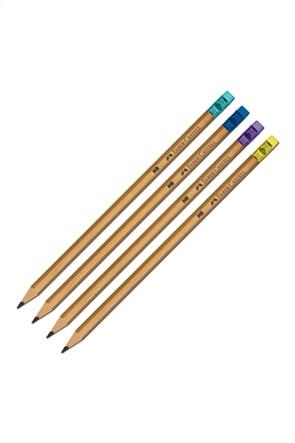 Faber-Castell Μολύβι Natural HB με χρωματιστή γόμα