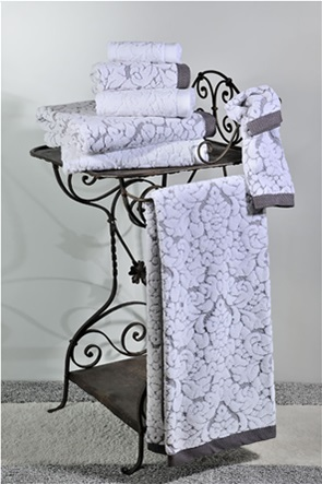 DOWN TOWN Home Σετ πετσέτες μπάνιου Classic 650 Γκρι (3 τεμάχια)