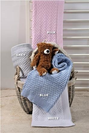 "DOWN TOWN Home βρεφική κουβέρτα κούνιας με ανάγλυφο σχέδιο ""Tendre"" 100 x 150 cm"