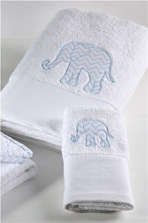 "DOWN TOWN Home παιδική πετσέτα προσώπου με σχέδιο ελεφαντάκι ""687"" 50 x 90 cm"