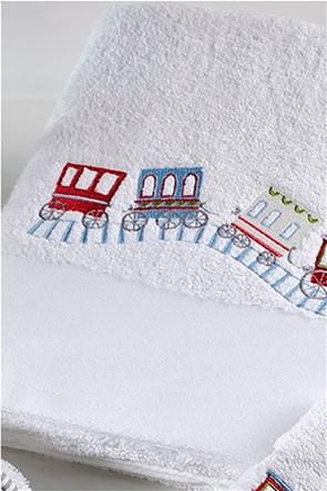 "DOWN TOWN Home παιδική πετσέτα προσώπου με σχέδιο τρενάκι ""118"" 50 x 90 cm"