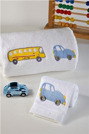 "DOWN TOWN Home παιδική πετσέτα προσώπου με σχέδιο λεωφορείο ""515"" 50 x 90 cm"