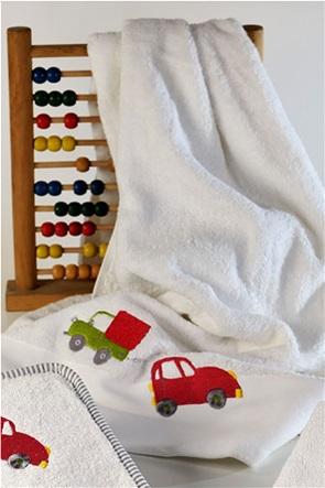 "DOWN TOWN Home παιδική πετσέτα προσώπου με σχέδιο αυτοκίνητο ""515"" 50 x 90 cm"
