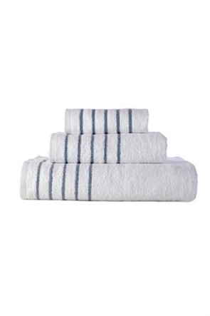 "DOWN TOWN Home σετ πετσέτες μπάνιου ""Border Stripes Blue"" (3 τεμάχια)"