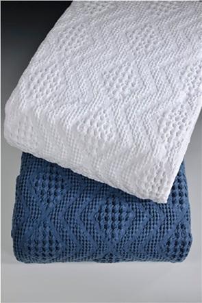 "DOWN TOWN Home κουβέρτα μονή με ανάγλυφο σχέδιο ""871 White"" 170 x 240 cm"