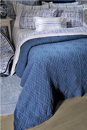 "DOWN TOWN Home κουβέρτα υπέρδιπλη με ανάγλυφο σχέδιο ""871 Blue"" 230 x 260 cm"