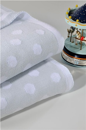 "DOWN TOWN Home βρεφική κουβέρτα κούνιας πουά ""198 Grey"" 90 x 120 cm"