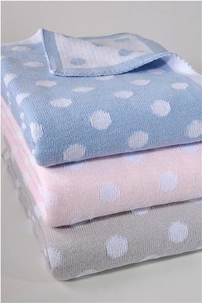 "DOWN TOWN Home βρεφική κουβέρτα κούνιας πουά ""198 Ciel"" 90 x 120 cm"