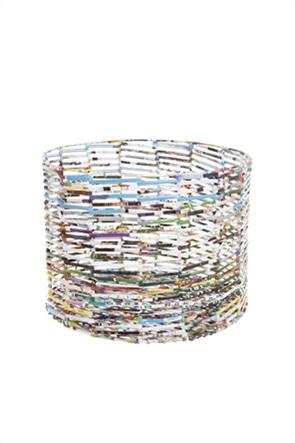 Coincasa καλάθι από ανακυκλωμένη εφημερίδα  30 x 40 cm