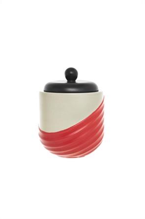 Coincasa χειροποίητο κεραμικό βάζο με καπάκι 18 cm