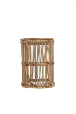 Coincasa χειροποίητο πλεκτό διακοσμητικό φανάρι bamboo 12 x 20 cm