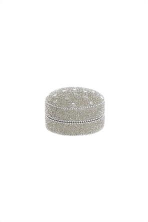 Coincasa χειροποίητο mini κουτί με χάντρες 9 cm
