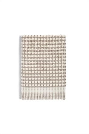 Coincasa πετσέτα μπάνιου δίχρωμη με ξέφτια 140 x 70 cm
