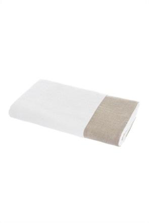 Coincasa πετσέτα μπάνιου με λινή φάσα 90 x 150 cm