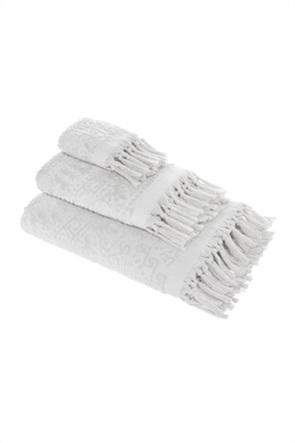 """Coincasa πετσέτα χεριών με ανάγλυφο σχέδιο και κρόσσια """"Thermae"""" 30 x 50 cm"""