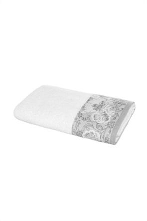 "Coincasa πετσέτα μπάνιου με κεντημένα λουλούδια ""Portofino"" 70 x 140 cm"