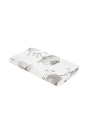 Coincasa πετσέτα μπάνιου με floral print 140 x 70 cm