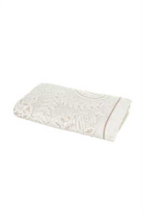 Coincasa πετσέτα χεριών jacquard με ανάγλυφο σχέδιο 40 x 60 cm