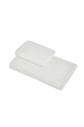 Coincasa σετ πετσέτες μπάνιου με κυψελωτό σχέδιο (2 τεμάχια)