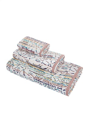 Coincasa πετσέτα προσώπου multicolour με floral σχέδιο 100 x 60 cm