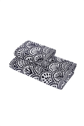 Coincasa πετσέτα χεριών βελούδινη με all-over print 60 x 40 cm