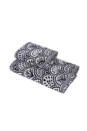 Coincasa πετσέτα προσώπου βελούδινη με all-over print