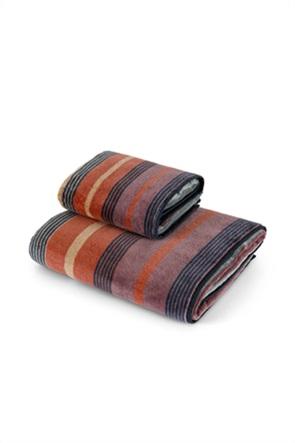 Coincasa πετσέτα προσώπου με ρίγες 100 x 60 cm
