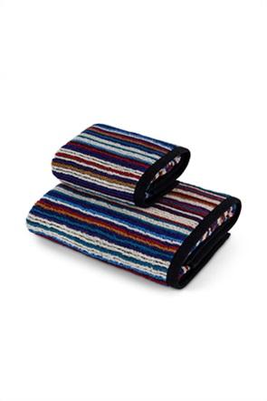 Coincasa πετσέτα χεριών βαμβακερή με ριγέ σχέδιο 60 x 40 cm