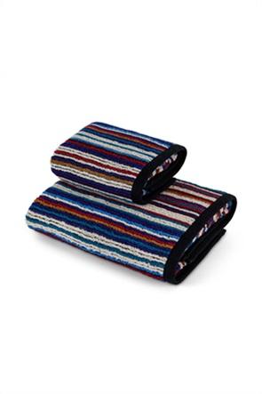 Coincasa πετσέτα προσώπου βαμβακερή με ριγέ σχέδιο 100 x 60 cm