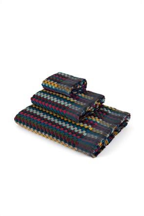 Coincasa πετσέτα προσώπου με πουά σχέδιο και κρόσσια 100 x 60 cm