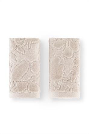 Coincasa σετ πετσέτες χεριών με ανάγλυφο ton-sur-ton floral print (2 τεμάχια)
