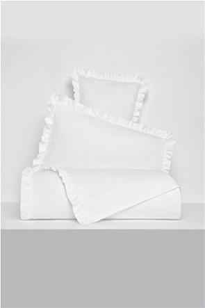 Coincasa υπέρδιπλη παπλωματοθήκη μονόχρωμη με βολάν 220 x 240 cm
