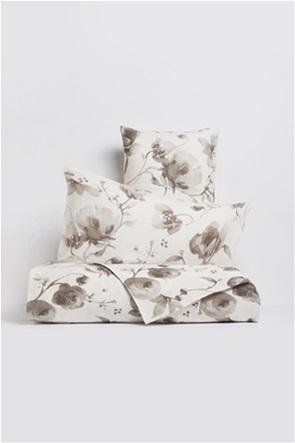 Coincasa λινό σεντόνι με floral print 280 x 250 cm