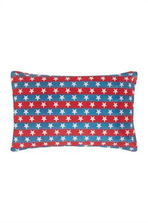 Coincasa διακοσμητικό ριγέ μαξιλάρι με αστέρια 50 x 80 cm