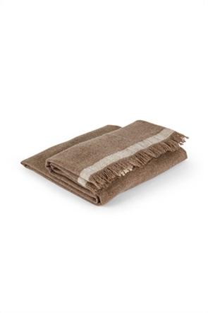 Coincasa κουβέρτα μάλλινη με κρόσσια 160 x 130 cm