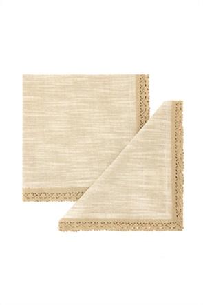 Coincasa σετ πετσέτες κουζίνας με δαντέλα 42 x 42 cm (2 τεμάχια)