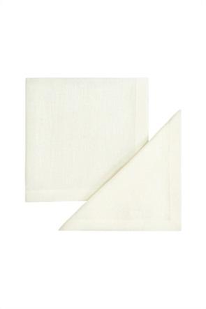 Coincasa σετ 2 λινές πετσέτες μονόχρωμες  42 x 42 cm