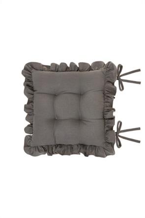 Coincasa μαξιλάρι καρέκλας με βολάν 40 x 40 cm